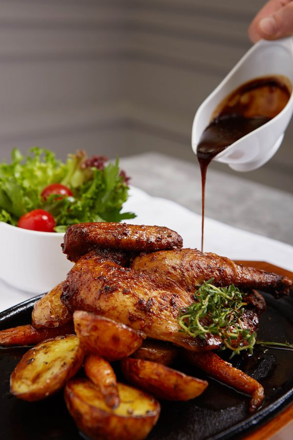 LADY L Garden Bistro : WHOLE ROASTED BABY CHICKEN, SAUTE'ED BABY CARROTS, ROASTED POTATOES