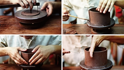 Flower x Purple clay (Zisha) Teapot Making